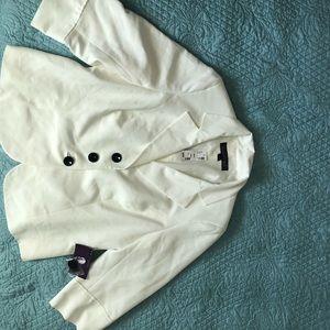 Women's soft white Gloria Vanderbilt jacket